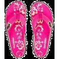 lence59 - Flip Flops - Pink Hibiscus - Thongs -