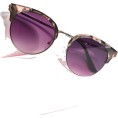 thenycbaglady - Floral Pink Sheva Half Frame Sunglasses - Sunglasses -