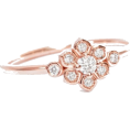 aazraa - Flower Diamond Ring, Flower Promise Ring - Anillos -