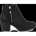 whisper - Fringe Trim Block Heel Chelsea Boots - Boots - £25.00  ~ $32.89