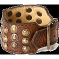 sandra  - Frye Bracelet, Leather Studded Cuff - Bracelets -