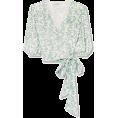 vespagirl - GANNI Tilden cropped floral-print mesh w - Shirts - $170.00
