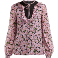 beautifulplace - GIAMBATTISTA VALLI  Floral-print silk-ch - Long sleeves shirts -