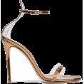 JecaKNS - GIANVITO ROSSI metallic leather sandals - Sandals -