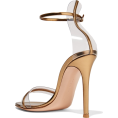 JecaKNS - GIANVITO ROSSI metallic leather sandals - Sandale -