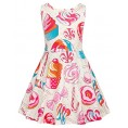 Grace Karin - GRACE KARIN Girls Sleeveless Crew Neck Floral A-Line Dress - Dresses - $10.99