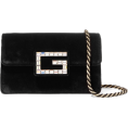 thenycbaglady - GUCCI Broadway crystal-embellished velve - Hand bag -