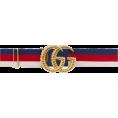 Georgine Dagher - GUCCI Web elastic belt with torchon Doub - Belt -