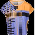samrabv - Geometric Print Relax Fit Cropped T-shir - T-shirts -