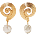 selenachh - Gold-plated faux pearl clip earrings - Naušnice -