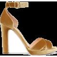 Aurora  - Gold Velvet Sandal - Sandalen -