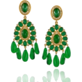 ValeriaM - Green Dangle Earrings - Earrings -