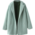 sandra  - Green Lapel Wool Coat | Choies - Jakne in plašči -