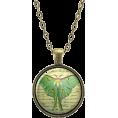 haikuandkysses - Green Luna Moth Necklace Pendant - Colares -