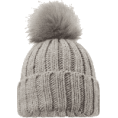 Aurora  - Grey Bobble Hat - Hat -