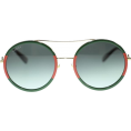 Vampirella24 - Gucci Round Striped Acetatte Sunglasses - Sunglasses -