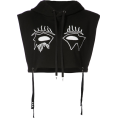 MATTRESSQUEEN  - HACULLA Evil Eye Crop Top Hoodie - Tanks -