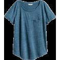 sandra  - H&M blue t shirt - Camisola - curta -