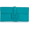 octobermaze  - Hermes clutch turquoise - Clutch bags -