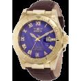 Invicta - Invicta Men's 1711 Pro Diver Elegant Gold-Tone Leather Watch - Watches - $105.63