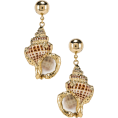 beautifulplace - Jennifer Behr Marina Earrings im Gold | - Earrings -