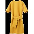 spabrah - Jil Sander mustard yellow belted dress - Dresses -
