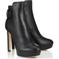 vespagirl - Jimmy Choo BRITNEY 115  Black Smooth - Boots - $1,050.00