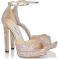 thenycbaglady - Jimmy Choo Pattie 130 Glitter Sandals - Sandals -