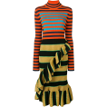 Georgine Dagher - KENZO striped mock neck dress - Dresses -
