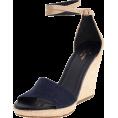 Amazon.com - Kate Spade New York Women's Farrel Open-Toe Espadrille Blue Denim/Natural Vacchetta - Sandals - $155.83