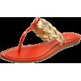 Amazon.com - Kate Spade New York Women's Ingrid Thong Sandal,Old Gold Metallic Calf/Orange Patent,6.5 M US - Sandals - $129.91