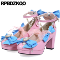 Jay Han - Kawaii Pink and Blue High Heels - Sapatos clássicos -