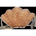 ValeriaM - Kayu - Jane straw shell clutch - Clutch bags -