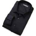 Kenneth Cole Reaction - Kenneth Cole Reaction Men's Spread Collar Tonal Solid Woven Shirt Black - Koszule - krótkie - $29.99  ~ 22.65€