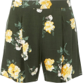 sharee64 - Khaki Floral Shorts - pantaloncini - $39.00  ~ 33.50€