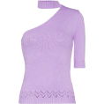 beautifulplace - LES REVERIES one-shouldered knitted mock - Long sleeves shirts -