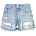 beautifulplace - LEVI'S distressed denim shorts - pantaloncini -
