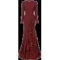 Georgine Dagher - LEX PERRY structured shoulder ruffle dre - Dresses -