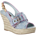 HalfMoonRun - LOUIS VUITTON denim wedge - Wedges -