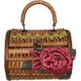 ValeriaM - La Joie Rose Straw Bag - Bolsas pequenas -