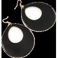 Anna Frost - Large Black Enamel Oval Hoop Earrings - Earrings - £6.50  ~ $8.55