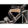 LedaTrend - Laura Biagiotti black gold sandals - Sandals - 64.99€  ~ $75.67