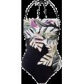 lence59 - Leaf Print Bandeau Swimsuit - 泳衣/比基尼 -