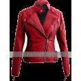 svijetlana2 - Leather Skin Red Women Ladies Brando Sty - Jacket - coats - $99.00