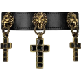 Karma121212 - Leather choker with cross pendant - Necklaces - $1,755.00