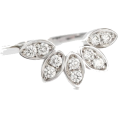 aazraa - Leaves Diamond Ring, Nesting Diamond Rin - Anelli -