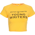 FECLOTHING - Letter printed short-sleeved t-shirt - T-shirts - $15.99