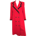 Colton French Crazy Zany Fake - Lilli Ann Red Wool Coat 1980s - Jacket - coats - $250.00