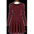 My Lulu Closet - Long Sleeve Skater Dress - Dresses - $29.00