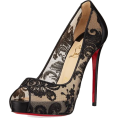 sandra  - Louboutin lace heels - Classic shoes & Pumps -